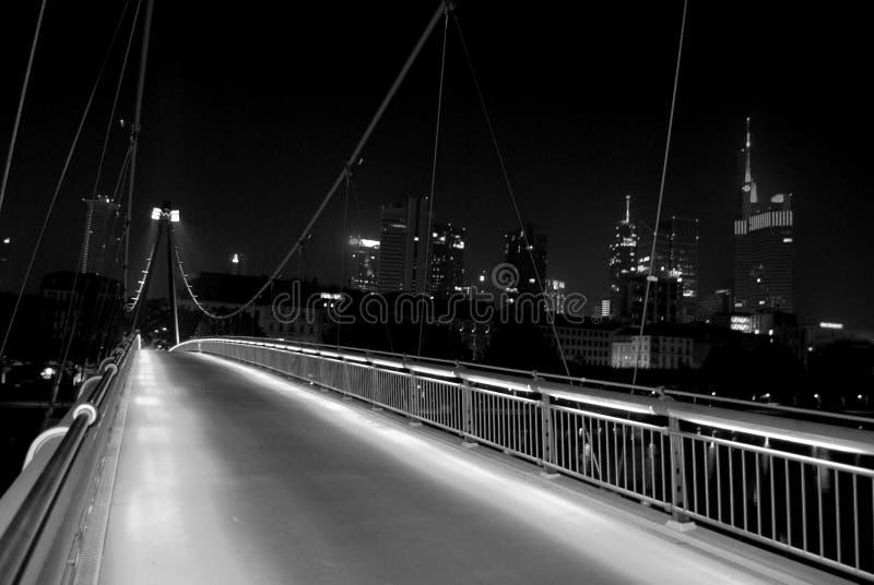 Frankfurt bis zum Nacht lizenzfreies stockfoto