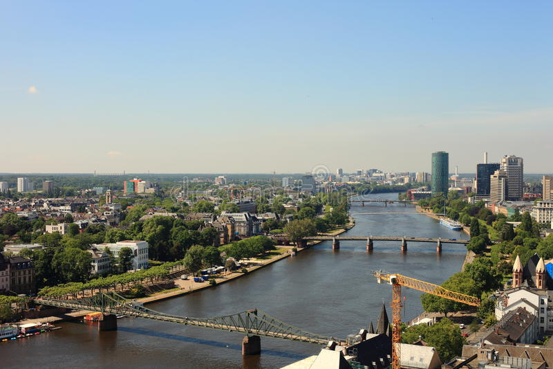 Frankfurt Bridges stock images