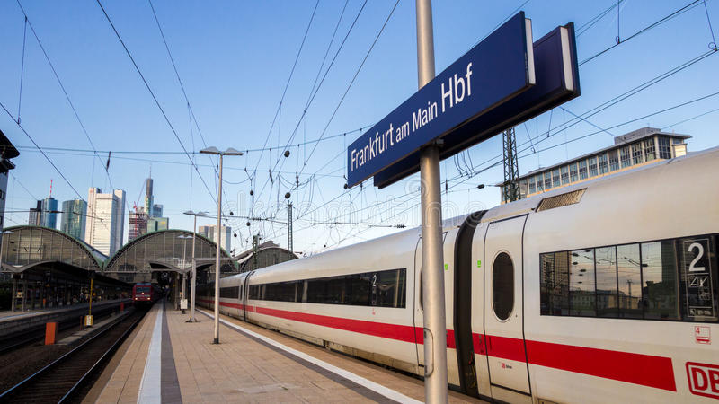 Frankfurt Central Train Station royalty free stock images