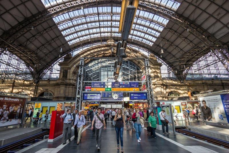 Frankfurt centrali dworzec zdjęcia royalty free