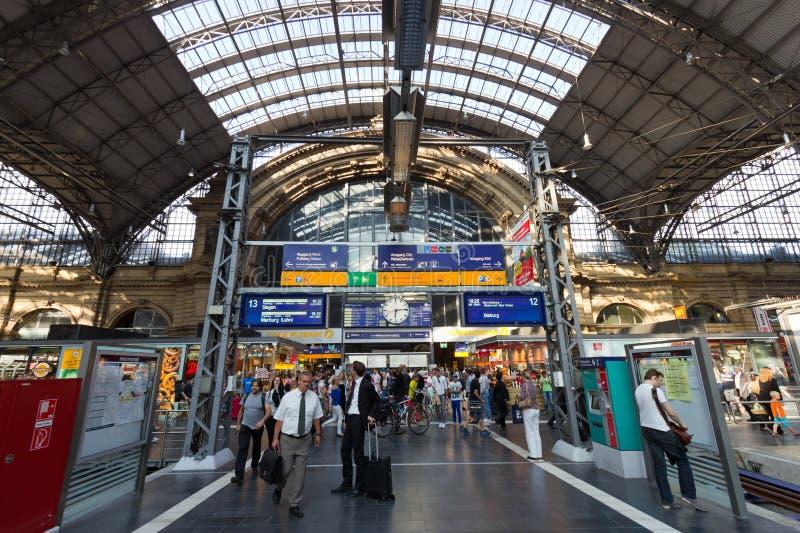Frankfurt centrali stacja obrazy royalty free