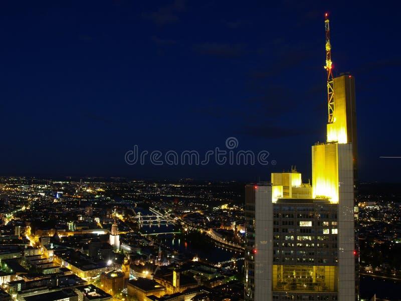 Download Frankfurt city night scene stock photo. Image of background - 5155788