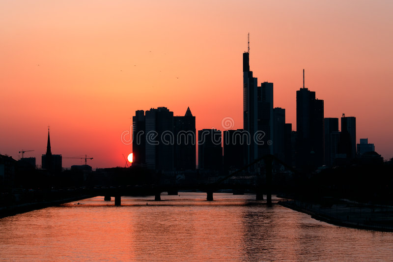 Download Frankfurt at dawn stock image. Image of architecture, europe - 8828529