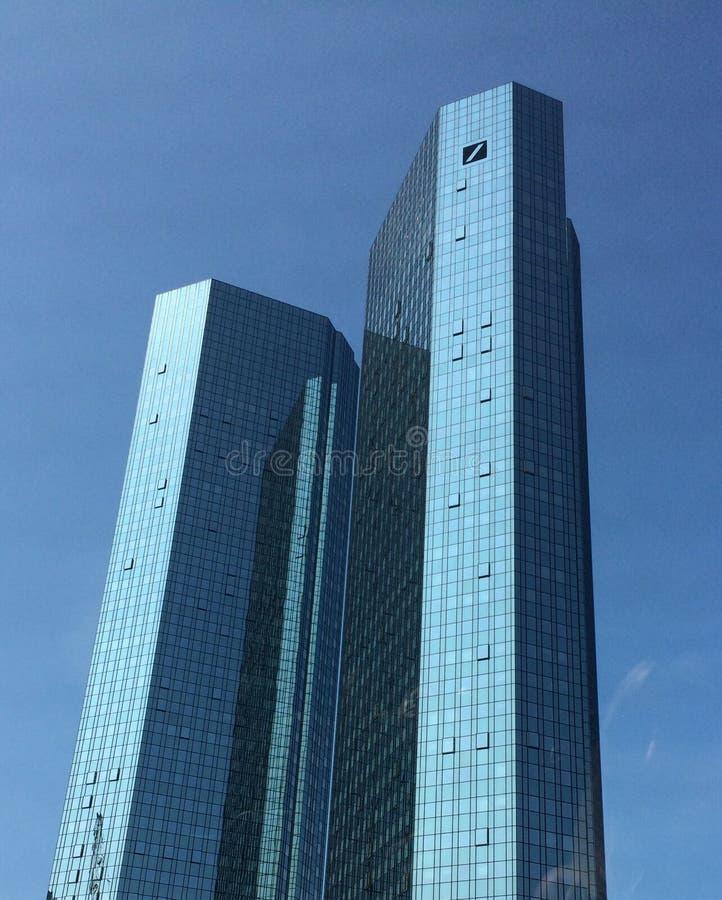 Frankfurt-deutche Bank lizenzfreie stockfotografie