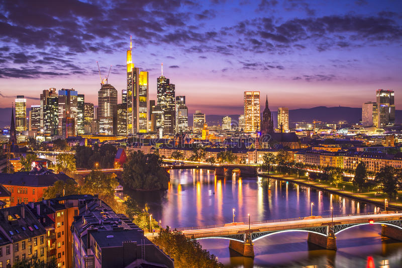 Frankfurt Duitsland royalty-vrije stock foto's
