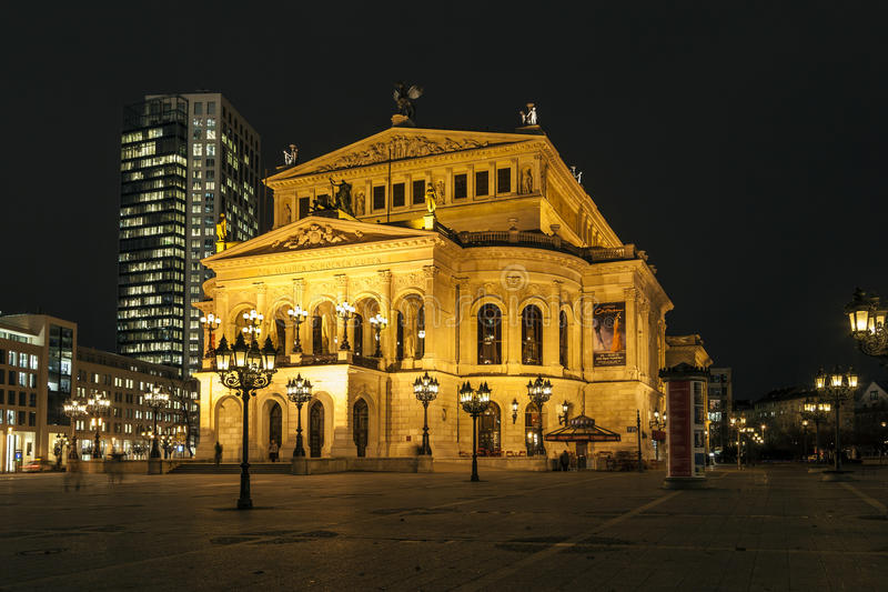 Download Lte Oper At Night  In Frankfurt Editorial Stock Image - Image: 30292104