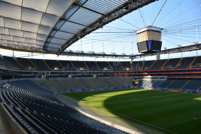 Frankfurt fotbollstadion - Commerzbank arena royaltyfri fotografi