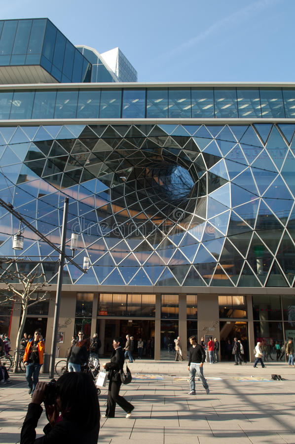 Frankfurt Futuristic Shopping Center royalty free stock photography