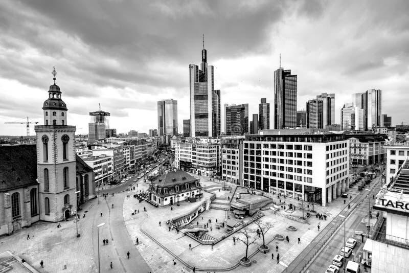 Frankfurt, Germany in black and white