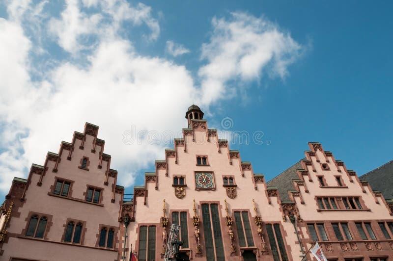 frankfurt Germany dziejowy główny romer kwadrat zdjęcie royalty free