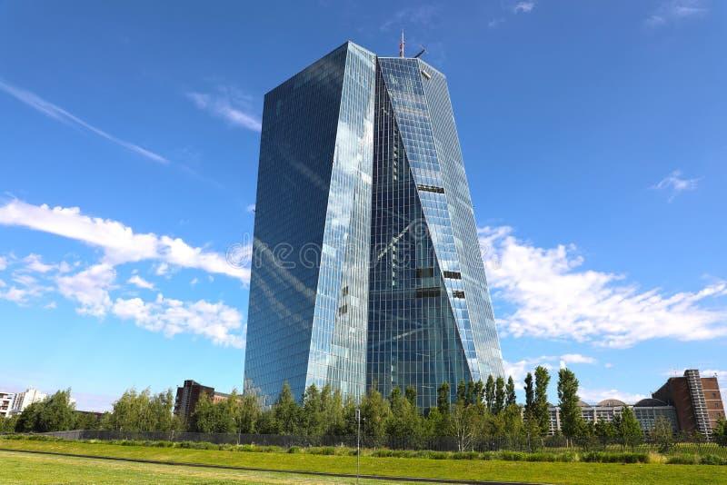 FRANKFURT, GERMANY - JUNE 1, 2019: Seat of the European Central Bank in Frankfurt, Germany.  royalty free stock photos