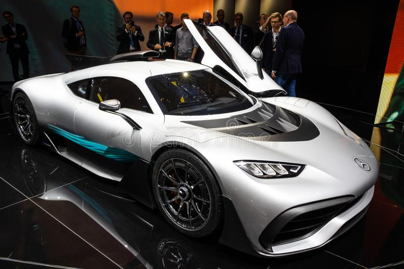 2017 Mercedes-AMG Project One Hyper car royalty free stock images