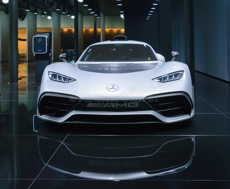 Mercedes AMG Project One at IAA 2017, front view stock photography