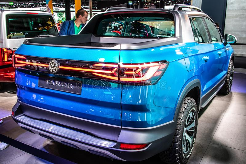 Volkswagen VW Tarok 4Motion pickup truck at IAA, 2020 model year, produced by German automaker Volkswagen Group royalty free stock image