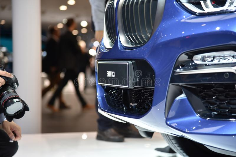 Франкфурт, Германия, 12-2017 сентября: BMW X3 на IAA 2017. Франкфурт, Германия, 12-2017 сентября: BMW X3 представлен на выставке IAA 2017 стоковые изображения
