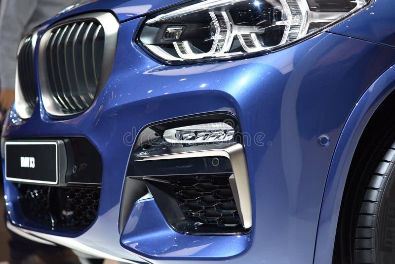 Франкфурт, Германия, 12-2017 сентября: BMW X3 на IAA 2017. Франкфурт, Германия, 12-2017 сентября: BMW X3 представлен на выставке IAA 2017 стоковое фото