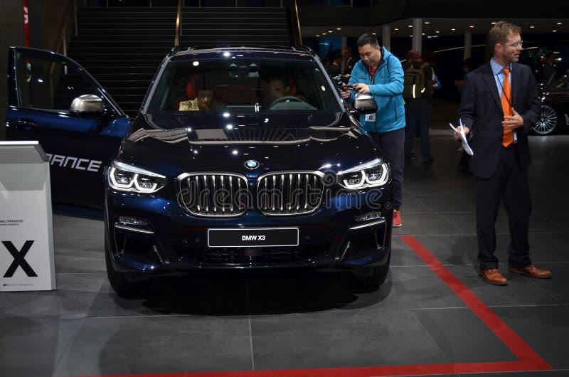 Франкфурт, Германия, 12-2017 сентября: BMW X3 на IAA 2017. Франкфурт, Германия, 12-2017 сентября: BMW X3 представлен на выставке IAA 2017 стоковое изображение