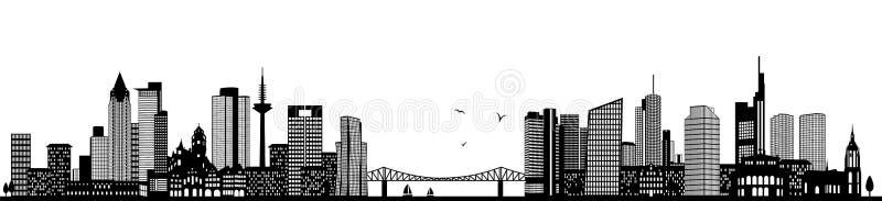 Frankfurt germany skyline black isolated vector. Design vector illustration