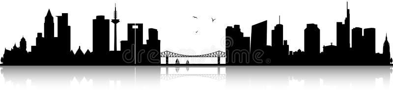 Frankfurt germany skyline black silhouette isolated vector. Design vector illustration