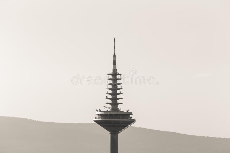 Frankfurt germany tv tower single color royalty free stock image