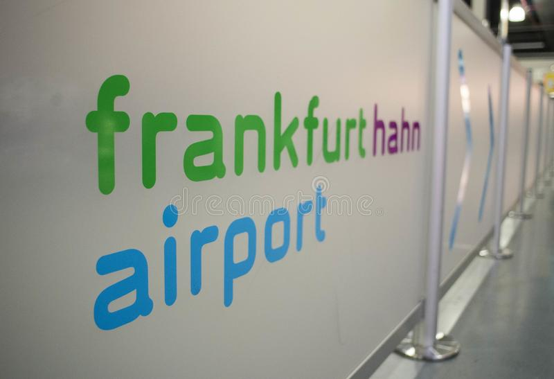 International airport in Frankfurt Hahn, Germany stock images