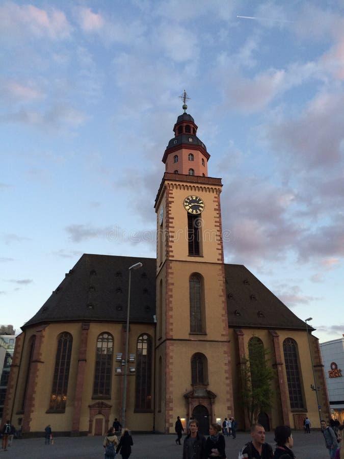Frankfurt Hauptwache royalty-vrije stock afbeelding