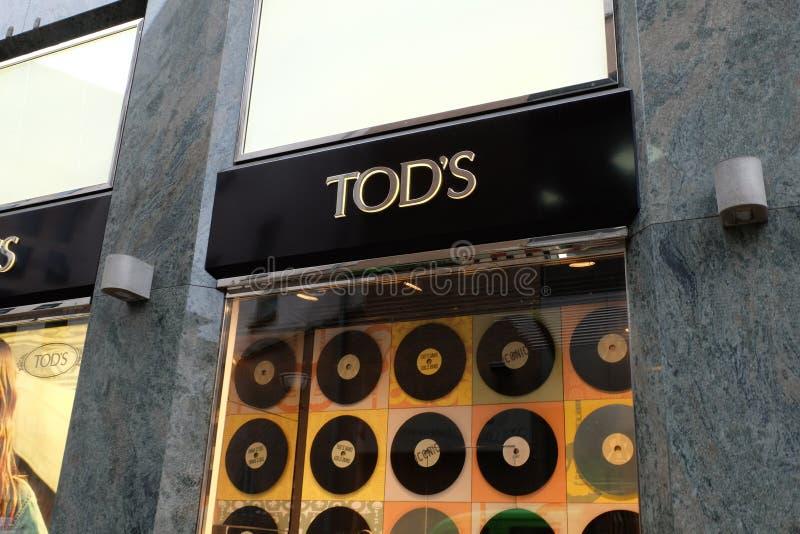 Tod`s Shop Logo in Frankfurt royalty free stock photo