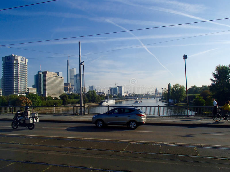 Frankfurt horisont 2 royaltyfria foton