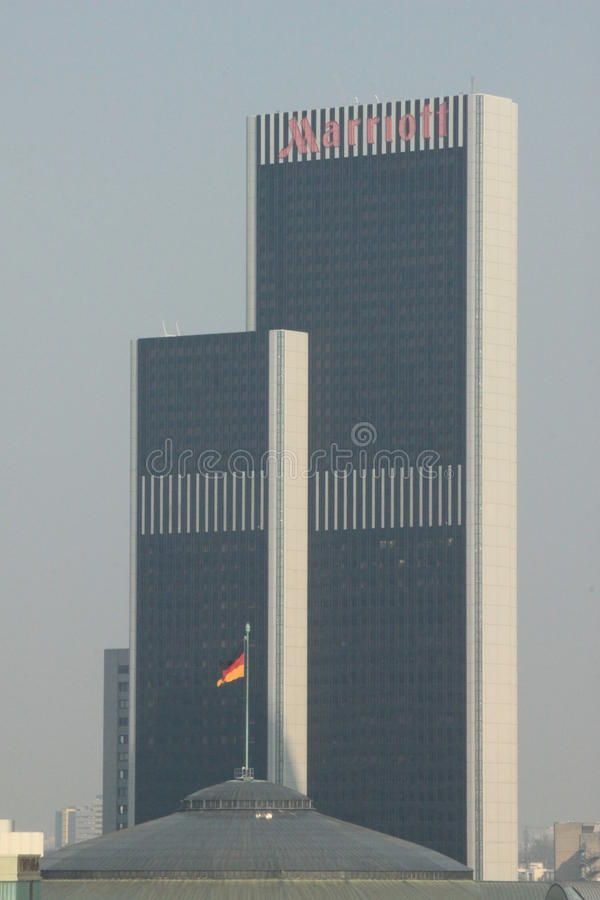 frankfurt hotellmarriott arkivbild