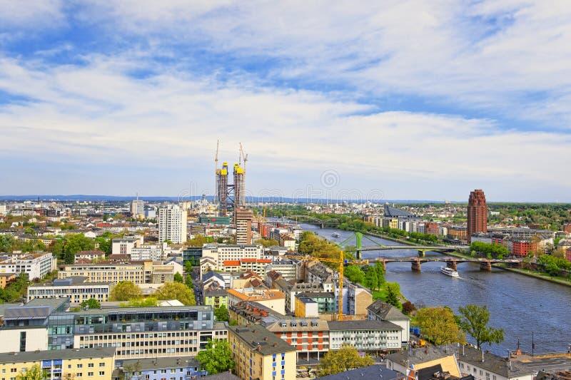 frankfurt huvudpanorama- sikt arkivbild