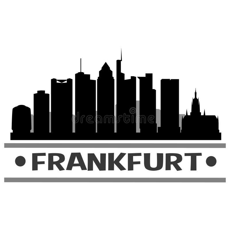 Frankfurt Icon Vector Art Design. A skyline of Frankfurt with emblematic buildings vector illustration