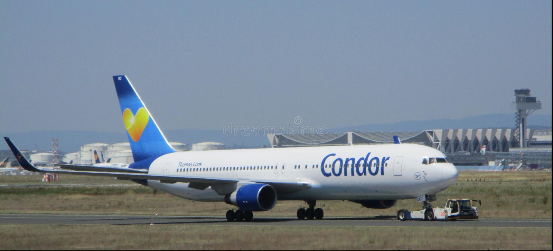 Frankfurt International Airport Planespotting stock image