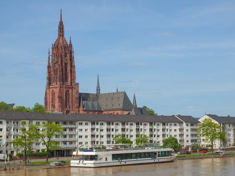 Frankfurt katedra obrazy royalty free