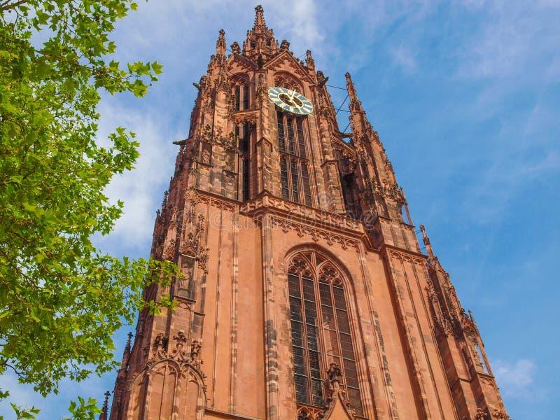 Frankfurt katedra obraz royalty free