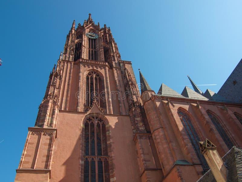 Frankfurt katedra fotografia stock