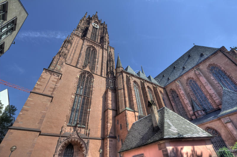 Frankfurt katedra zdjęcie royalty free
