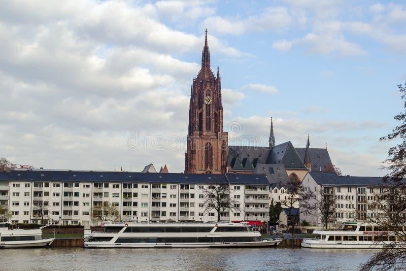 Frankfurt katedra, Niemcy zdjęcie stock
