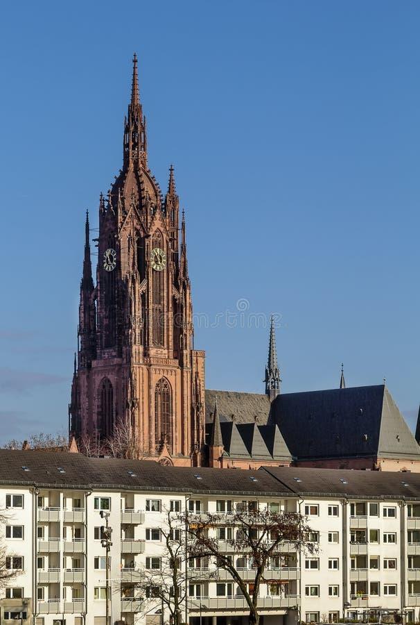 Frankfurt katedra, Niemcy obraz royalty free