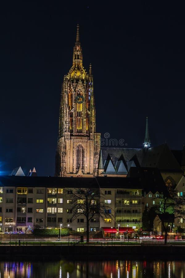 Frankfurt katedra, Niemcy obraz stock