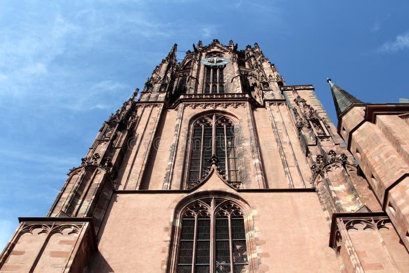 Frankfurt katedra w Niemcy obraz royalty free