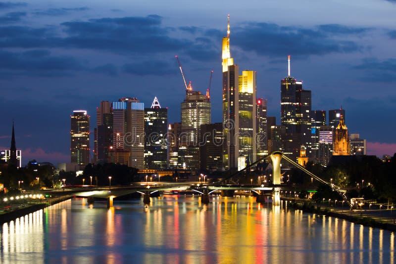 Frankfurt linia horyzontu zdjęcie stock