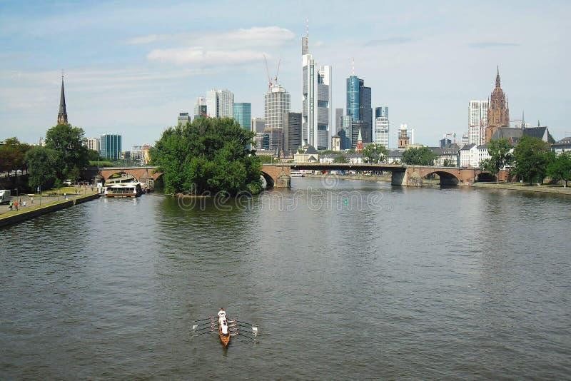 Frankfurt & x28; Main& x29; royaltyfri fotografi