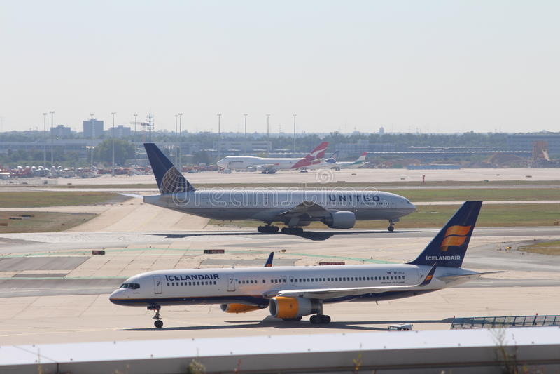 Planes at Frankfurt Airport royalty free stock images