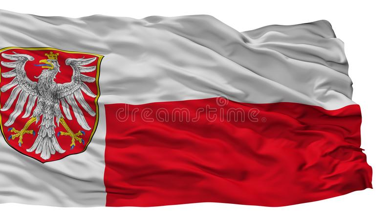 Frankfurt Am Main City Flag, Germany, Isolated On White Background. Frankfurt Am Main City Flag, Country Germany, Isolated On White Background royalty free illustration