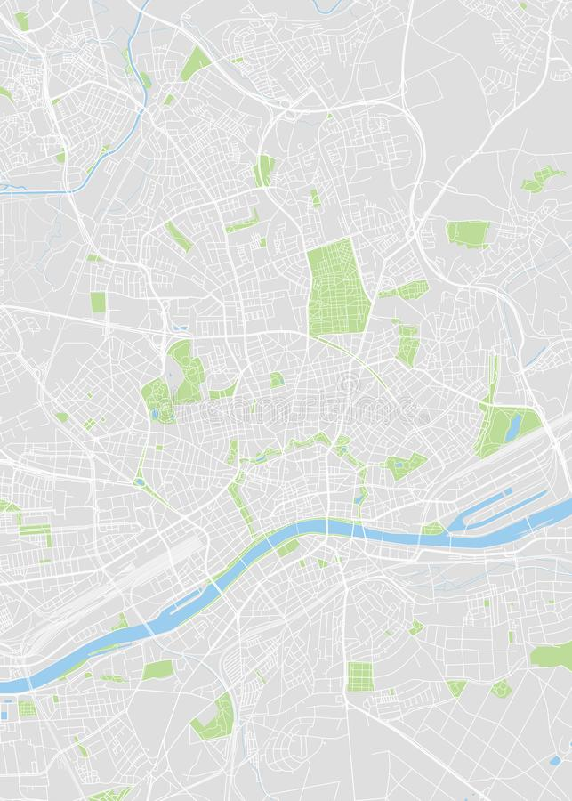 Frankfurt am Main colored vector map. Illustration for design stock illustration