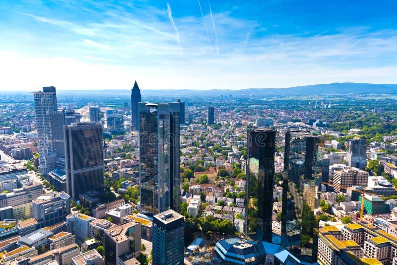 Frankfurt am Main, Germany. Panorama of Frankfurt am Main, Germany stock image