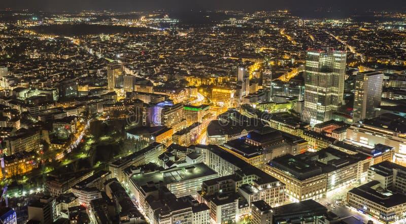 Frankfurt am main germany cityscape at night royalty free stock photography