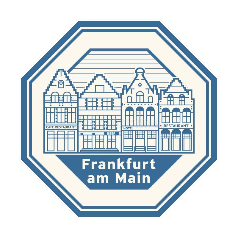 Frankfurt am Main, Germany stamp. Abstract rubber stamp with words Frankfurt am Main, Germany inside, vector illustration royalty free illustration