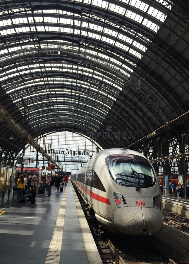 Frankfurt am Main Hbf. Shot at 10th May 2016. Frankfurt am Main Central Station underground station (German: Frankfurt am Main Hbf) is a four-track S-Bahn stock images