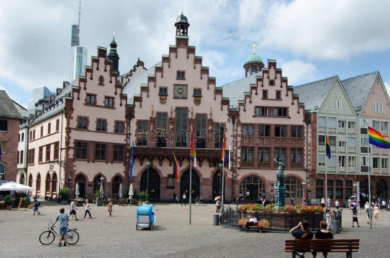 frankfurt am main juli 20 oude stad alte stadt redactionele stock afbeelding afbeelding. Black Bedroom Furniture Sets. Home Design Ideas